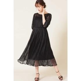 プリーツレースドレス