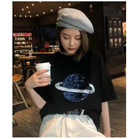 スペーススパンコール刺繍Tシャツ