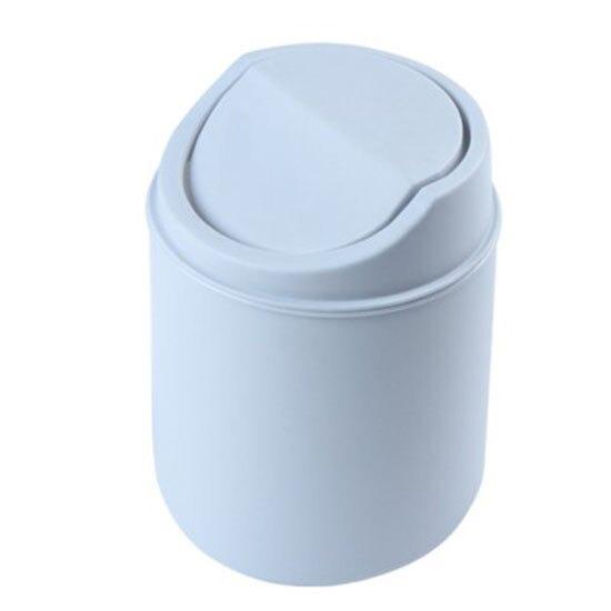 桌面垃圾桶 收納桶 收納筒 小垃圾桶 自動翻蓋 家用 客廳 紙簍 搖蓋式 迷你 北歐風 素色 辦公室 辦公桌 桌子 書桌 廚房 衛生紙 分類 環保 桌面垃圾桶 ♚MY COLOR♚【R063】