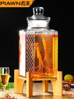 泡酒玻璃瓶帶龍頭10斤20斤泡酒壇子無鉛加厚釀酒罐酒桶藥酒瓶
