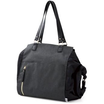 クラソ Kraso サブバッグいらず荷物に合わせてサイズが変わるサイドロールバッグ (ダークグレー)