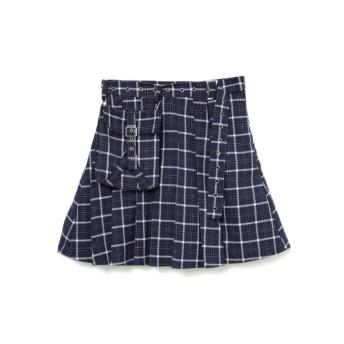 3WAYポーチ付きプリーツスカート