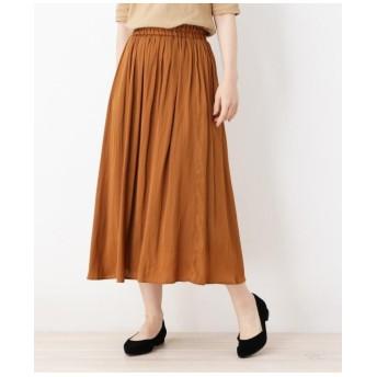 ナイルサテンギャザースカート