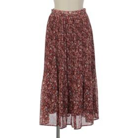 ボタニカルベリープリーツスカート