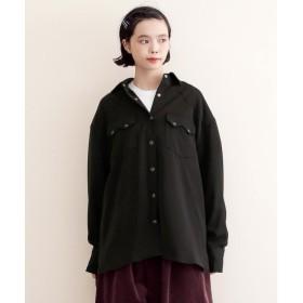 メルロー merlot 【MERLOT IKYU】ビックシルエットウエスタンシャツ (ブラック)