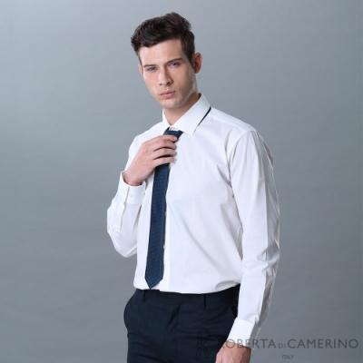 ROBERTA諾貝達 進口素材 台灣製 合身版 職場型男長袖襯衫 白色