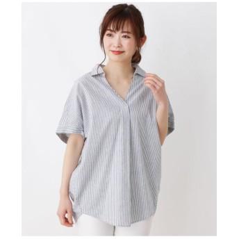 【洗える】綿リネンスキッパーシャツ