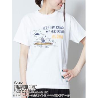 【Kahiko】スヌーピーライディングTシャツS ホワイト
