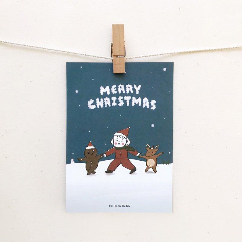 Buddy   聖誕快樂   聖誕明信片