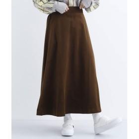 メルロー merlot 別珍フレアロングスカート (ブラウン)