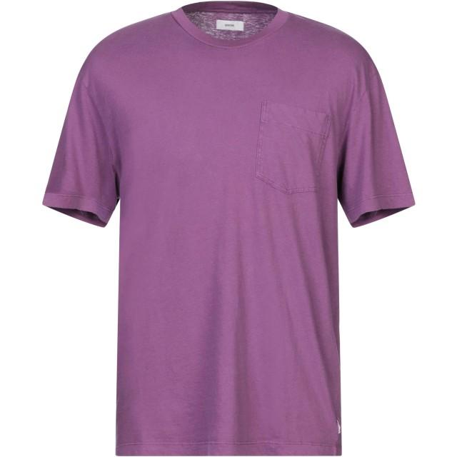 《セール開催中》MAURO GRIFONI メンズ T シャツ パープル S コットン 86% / 麻 14%