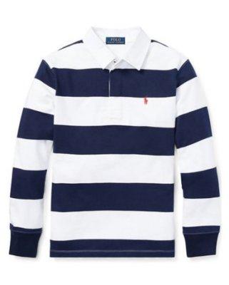 Polo Ralph Lauren 小馬 現貨 長袖 polo衫 青年款 藍白條紋