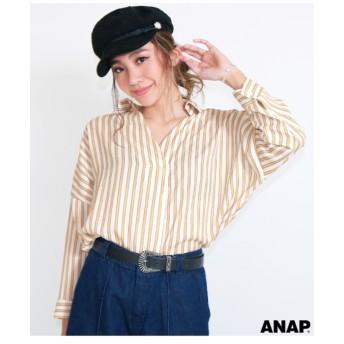 【ANAP】 ストライプスキッパーシャツ