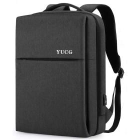 リュック ビジネスリュック バックパック リュックサック 大容量 防水 3way YKKファスナー USB 充電ポート 15.6インチ PC リュック 多機能 撥水加工 人気 通勤 出張 旅行 通学 男女兼用 黒 YUCG (グレー)