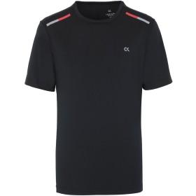 《セール開催中》CALVIN KLEIN PERFORMANCE メンズ T シャツ ブラック S ポリエステル 82% / ポリウレタン 18% SHORT SLEEVE T-SHIRT