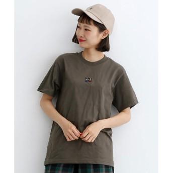 メルロー merlot kumalot ふたり刺繍Tシャツ (チャコールグレー)