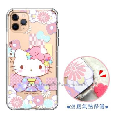 三麗鷗授權 iPhone 11 Pro 5.8吋 彩繪空壓手機殼(和服)