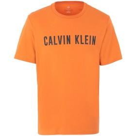 《セール開催中》CALVIN KLEIN PERFORMANCE メンズ T シャツ オレンジ S コットン 95% / ポリウレタン 5% SHORT SLEEVE T-SHIRT