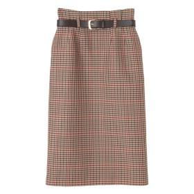 【スカート】ベルト付チェックスカート