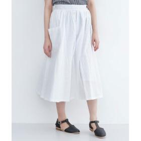 メルロー merlot ドットドビービックポケットスカート (オフホワイト)