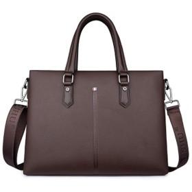 新しいメンズバッグ、革製のハンドバッグ、ビジネスメンズハンドバッグ、クロスボディバッグ、ブリーフケース、ショルダーバッグ、-brown