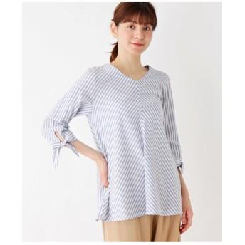 サマーバイヤス ストライプシャツ