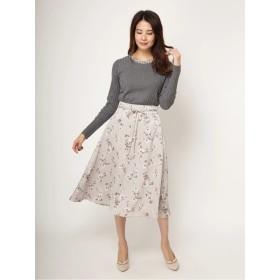 オリジナルぼかしフラワーセミフレアスカート