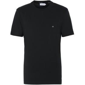 《セール開催中》CALVIN KLEIN メンズ T シャツ ブラック S オーガニックコットン 100% COTTON LOGO EMBROIDED
