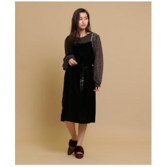 ◆moi non plus(モア・ノン・プリュ)ベロアジャンパースカート