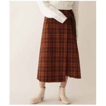 ツイルチェックラップスカート