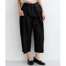 メルロー merlot ポケットデザインタックパンツ-079 (ブラック)