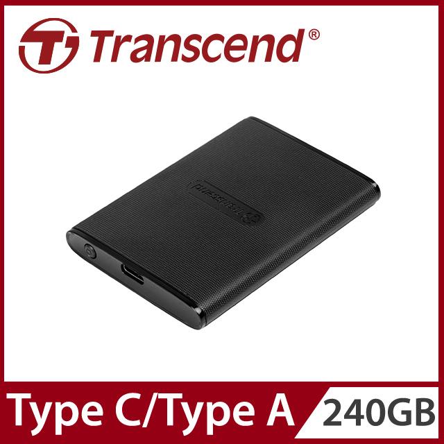 Transcend 創見 240GB ESD230C SSD USB3.1/Type C 雙介面行動固態硬碟 - 經典黑