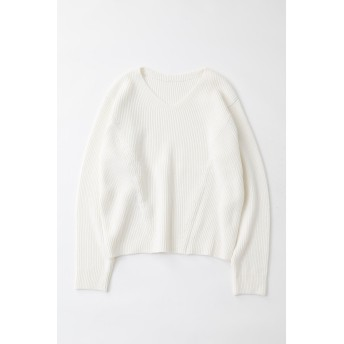 マウジー moussy BOATNECK 2WAY KNIT TOP (オフホワイト)