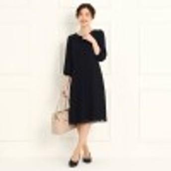 【フォーマル/入卒/ママスーツ/洗える】プリーツシフォンワンピース