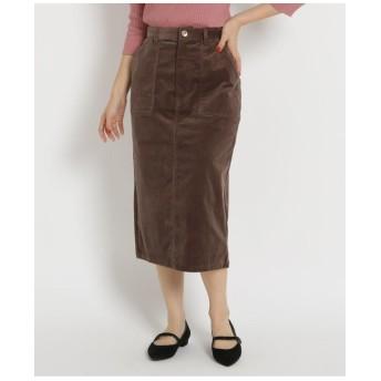 【Lサイズあり】コーデュロイタイトスカート
