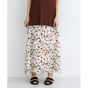 メルロー merlot くるみボタンAラインスカート (アイボリー)