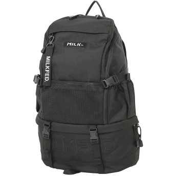 EMBROIDERY MESH POCKET BACKPACK