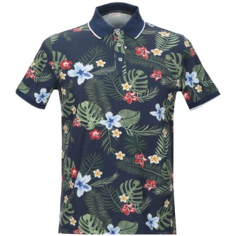 《セール開催中》ALTEA メンズ ポロシャツ ダークブルー S コットン 100%