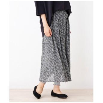 レギンス付柄スカート
