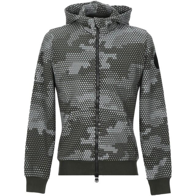 《セール開催中》HYDROGEN メンズ スウェットシャツ ミリタリーグリーン XS コットン 100%