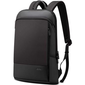 BOPAI リュックサックメンズ 超軽量 ビジネスリュック 盗難防止 リュック薄型 デーバッグ 15.6インチパソコン対応 防水 ブラック