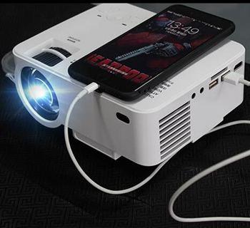 投影機 手機投影儀家用wifi無線高清智慧微型投影機便攜式家庭影院800*480