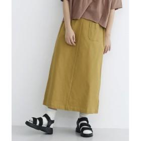 メルロー merlot フェイクレザーサスペンダーナロースカート (ベージュ)