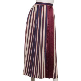 【S】マルチストライププリーツスカート