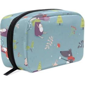 YoungWH 冬 トラベルポーチ トイレタリーバッグ バスルームポーチ 収納バッグ 化粧ポーチ 旅行バッグ 小物整理 洗面用具入れ メッシュ