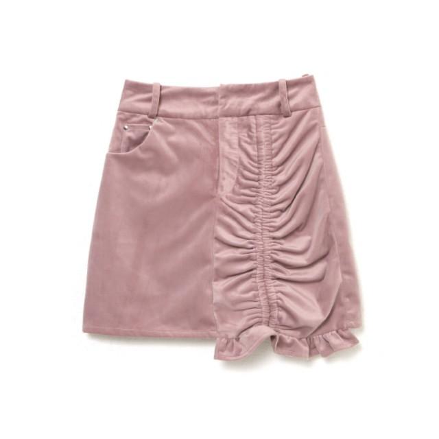アシンメトリーギャザースカート