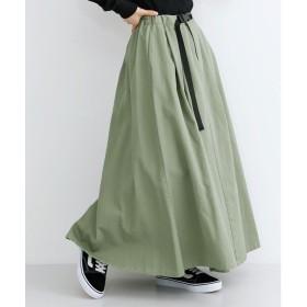 メルロー merlot アジャスターベルトマキシスカート (ライトグリーン)