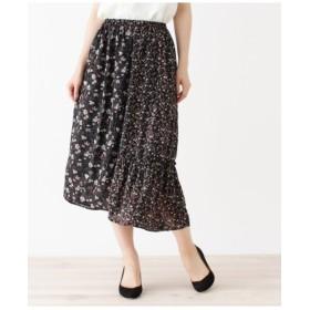 花柄パターンMIXギャザースカート