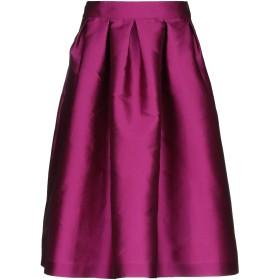 《セール開催中》TARA JARMON レディース 7分丈スカート パープル 38 ポリエステル 85% / シルク 15%