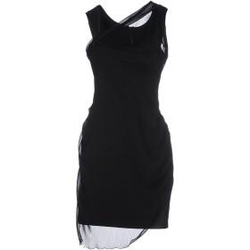 《セール開催中》DEK'HER レディース ミニワンピース&ドレス ブラック 40 ポリエステル 57% / コットン 40% / ゴム 3%